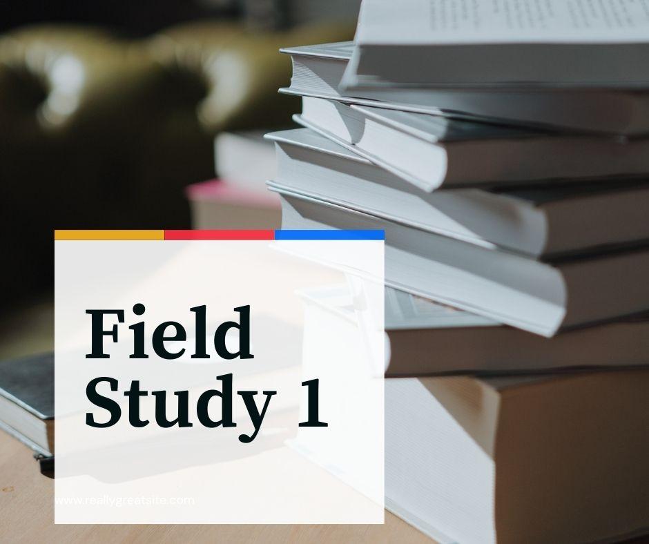 SMJL Field Study 1